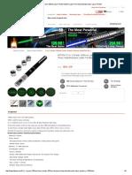 HTPOW 100mw Green Laser Pointer