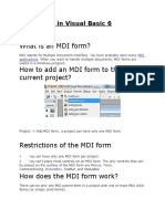 MDI Forms in Visual Basic 6