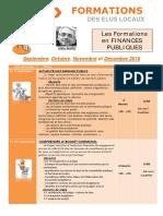 Formations Finances de Septembre à Décembre 2016