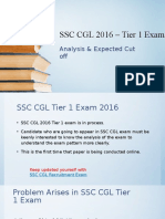 SSC CGL 2016 – Tier 1 Exam Analysis & Expected Cut Off