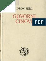 Džon Serl - Govorni činovi - ogled iz filozofije jezika