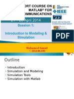 MATLAB Course Session 1 Introduction to Modelling and Simulation