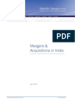 Mergers Acquisitions in India