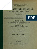 Dictionnaire Musical Notions Etrangères
