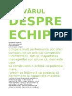 Importanta Echipelor - Copy