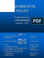 Fundamental Rules