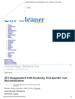JFJ Disappointed With Kentucky Kid Murder Case Discontinuation - News - Latest News - Jamaica Gleaner