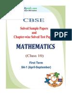 10 Mathematics SA 1 eBook New