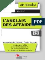 L Anglais Des Affaires 2015 2016