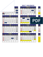 2017 NS Calendar