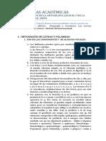 NORMAS ACADÉMICAS - Resumen Cortesía Celeste Fleitas