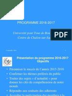 UTB - Présentation Du Programme 2016-2017