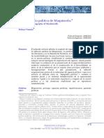 Stefano Visentin - La topografía política de Maquiavelo.