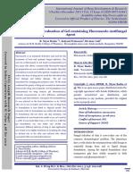 Formulation and Evaluation of Gel Containing Fluconazoleantifungal Agent