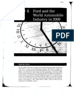 Case #1 Ford and the World Automobile Industry in 2009