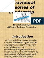Behavioural Theories of Leadership 1