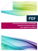 Intervención profesional con mujeres víctimas de la violencia de género en el ámbito de sanidad