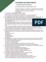 Estudo Dirigido de Saúde Pública - Profª Silvana - 2016