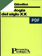 La Teologia Del S.XX (Rosino Gibellini)