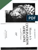 Frobenius Histoire Civilisation Africaine