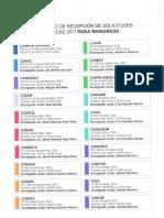 Calendario de recepción de solicitudes de becas para reingreso 2017