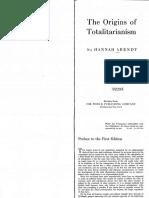 Arendt Origins of Totalitarianism Preface