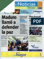 Últimas Noticias Vargas jueves 1 de septiembre  de  2016