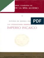 Estudios de Historia Peruana - El Imperio Incaico - Riva-Agüero - Parte 1