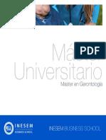 Master en Gerontología (Titulación Universitaria + 60 Créditos ECTS)