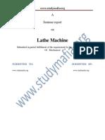 Mech Lathe Machine Report