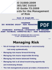 Overview of Iso 31000 Iso-iec 31010 & Iso Guide 73