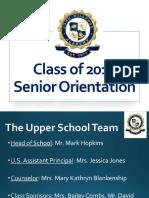 senior parent night presentation 2017