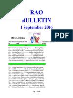 Bulletin 160901 (HTML Edition)