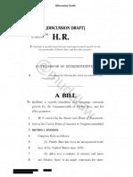PR Independence Legislation - Discussion Draft