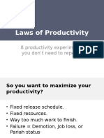 Rules of Productivity