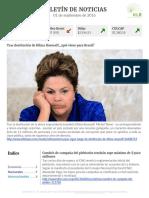 Boletín de noticias KLR 01SEP2016