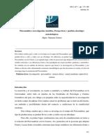 Psicoanalisi e Investigación Científica - Gómez