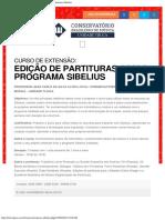 CBM - Tijuca Curso de Extenção Em Programa de Partituras Sibelius