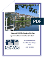 apartment community brochure