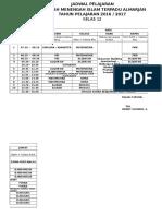 Jadwal Pelajaran Kelas 12