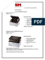 Impresora cotizaciones de agosto