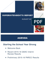Superintendent Report August 2016