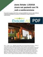 Edoxaban (LIXIANA) efficace e sicuro nei pazienti con FA sottoposti a cardioversione