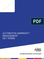 AIAG Cqi 14 Warranty Key Terms