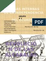 Causas Internas de La Independencia Del Ecuador