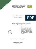 Projeto Elétrico , Impacto No Orçamento de Uma Obra