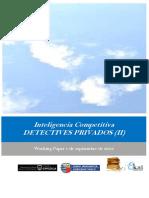 Inteligencia Competitiva. DETECTIVES PRIVADOS (II)