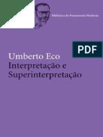 Interpretacao e Superinterpreta - Umberto Eco