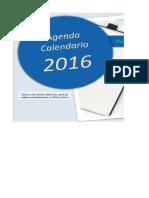 Agenda Calendario2016 Sin Macros ClasesExcel