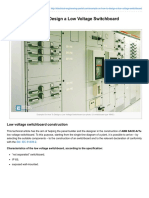 On How to Design a Low Voltage Switchboard